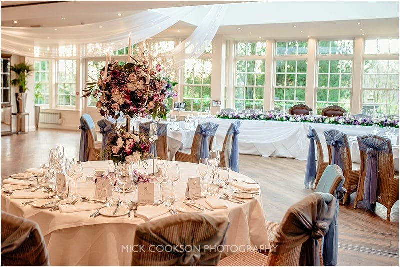 mitton hall wedding setup
