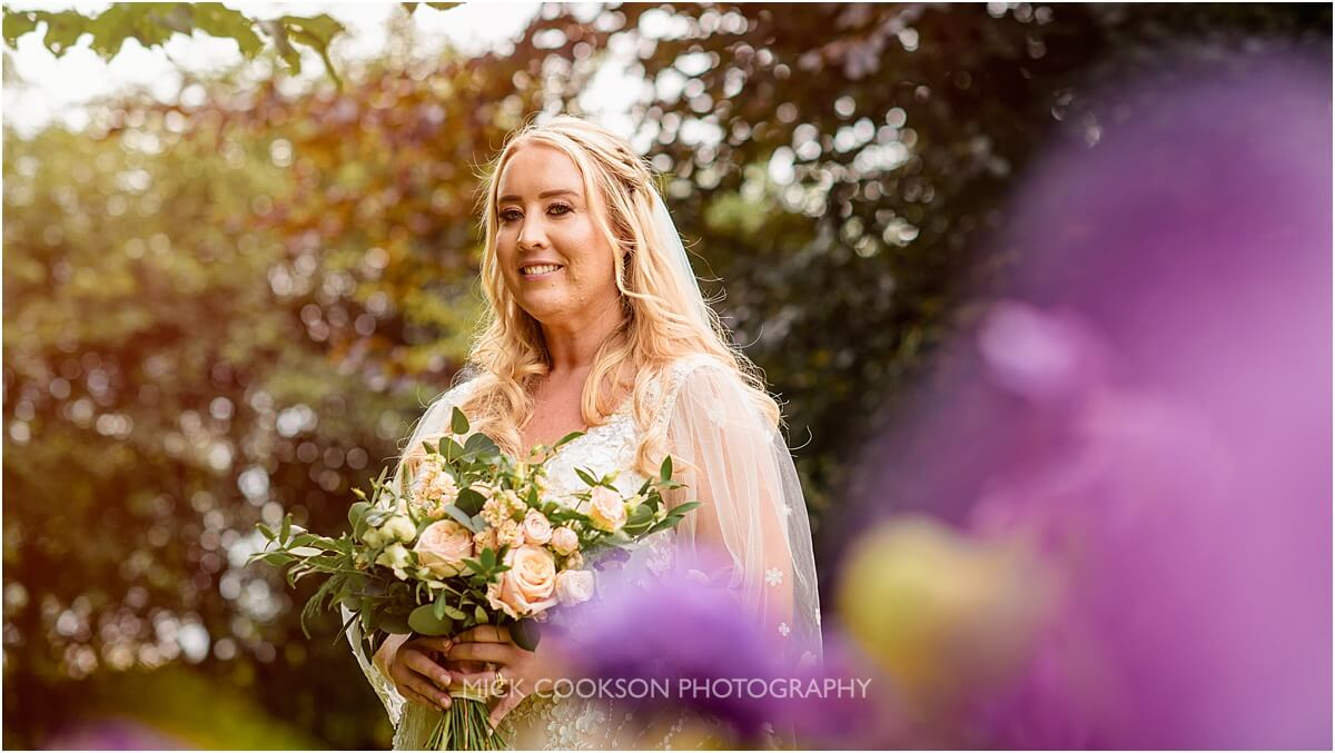 bride portrait at the white hart at lydgate