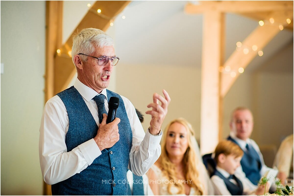 father of the groom speech at the white hart lydgate
