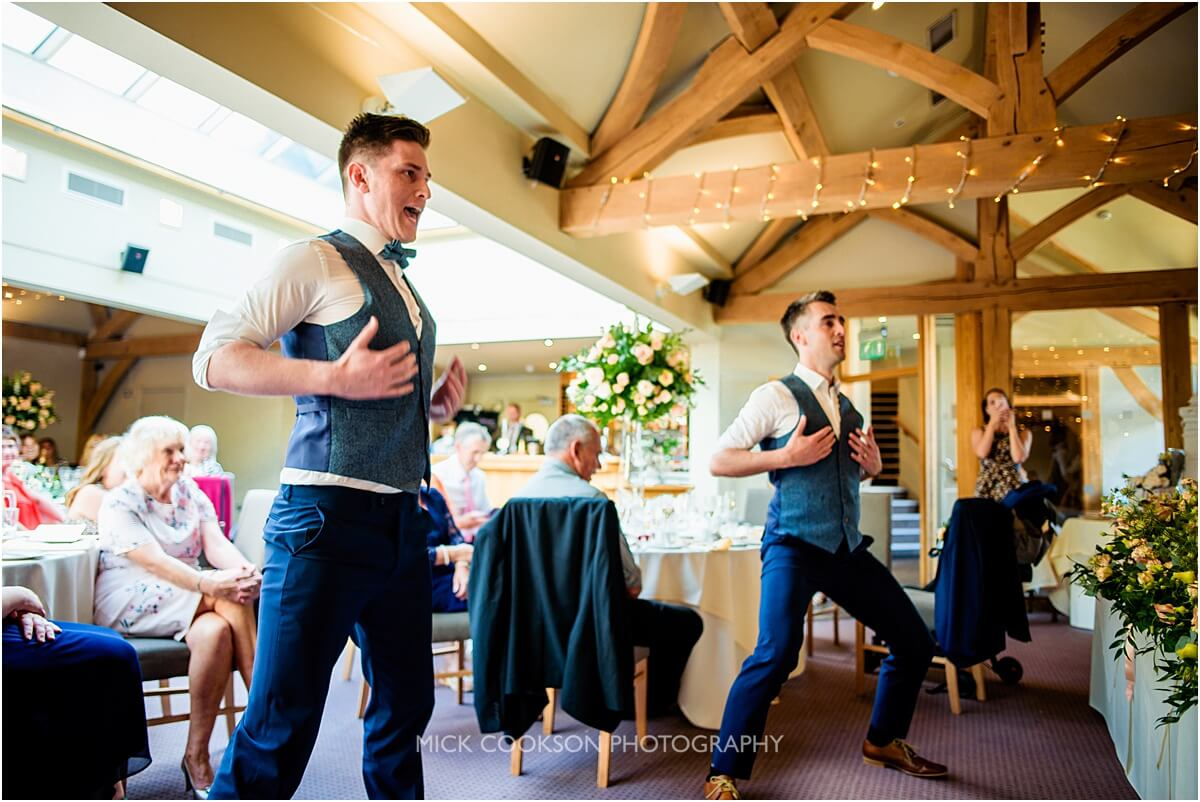 two brothers performing a haka at the white hart lydgate