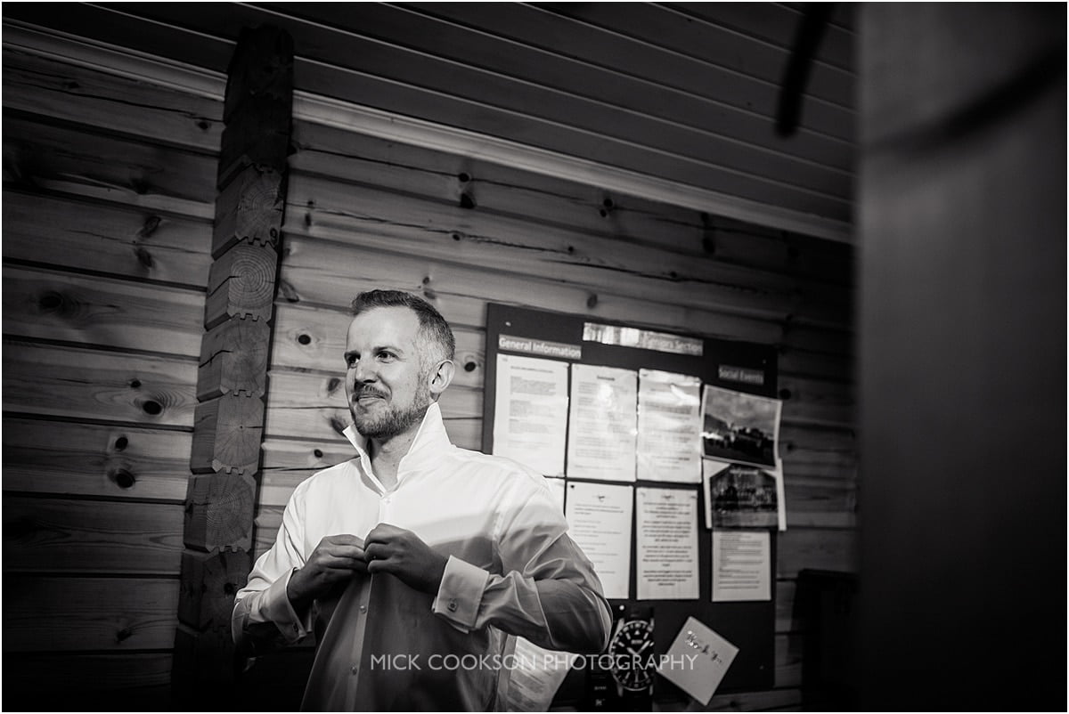groom getting ready at Styal Lodge