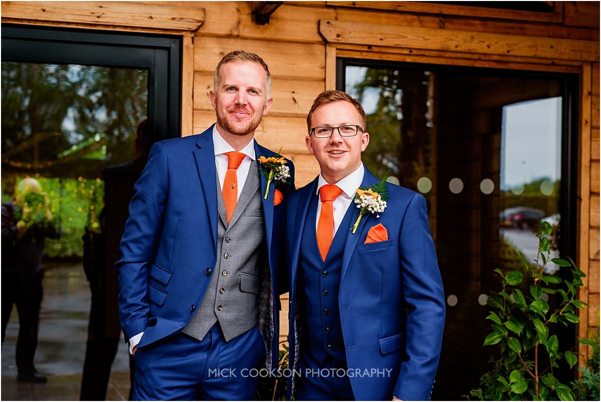 groom and best man at Styal Lodge