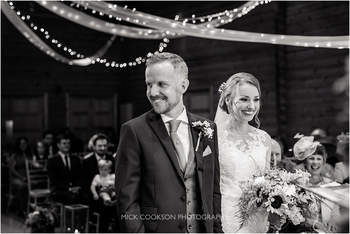 groom and bride have a giggle
