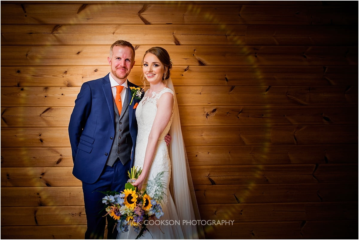 bride and groom photo at Styal Lodge