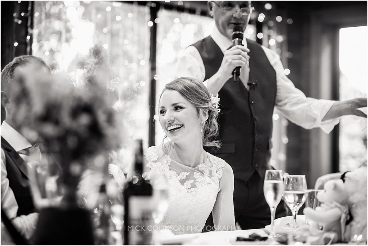 happy bride at Styal Lodge
