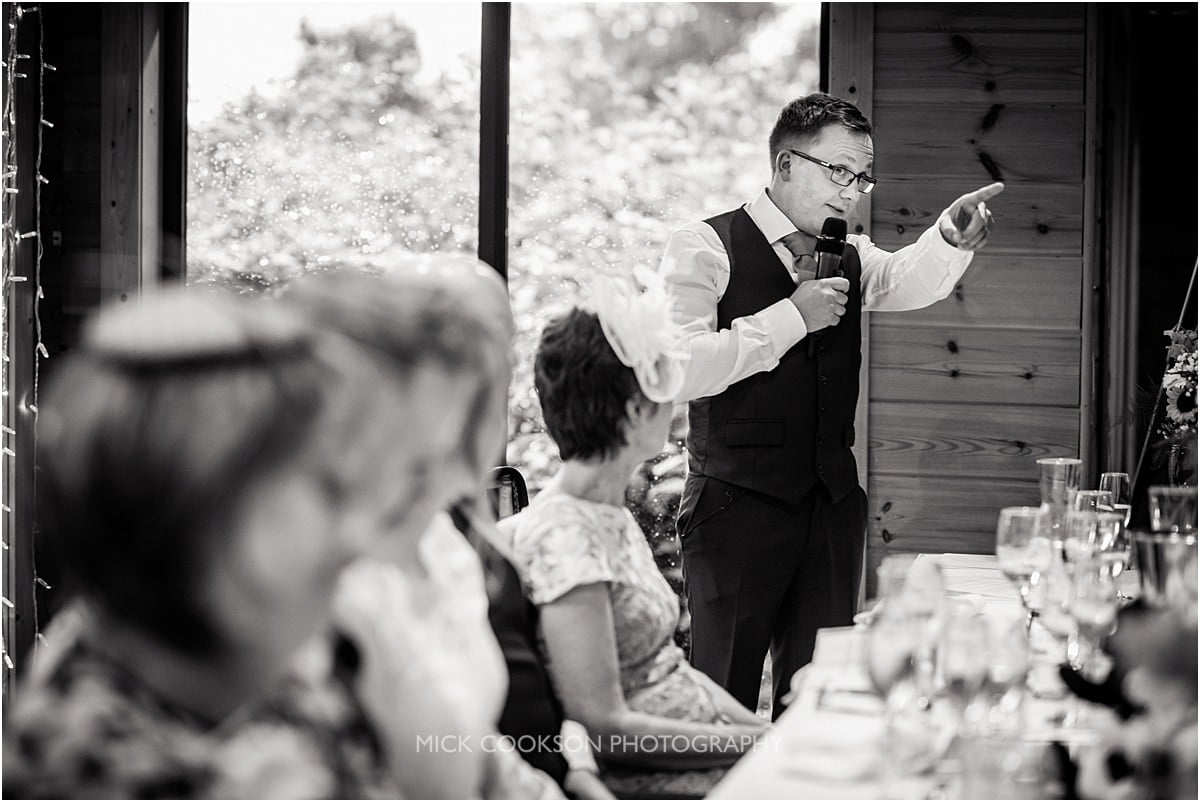 wedding speeches at Styal Lodge