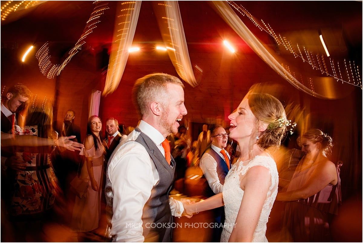 bride and groom dancing at Styal Lodge