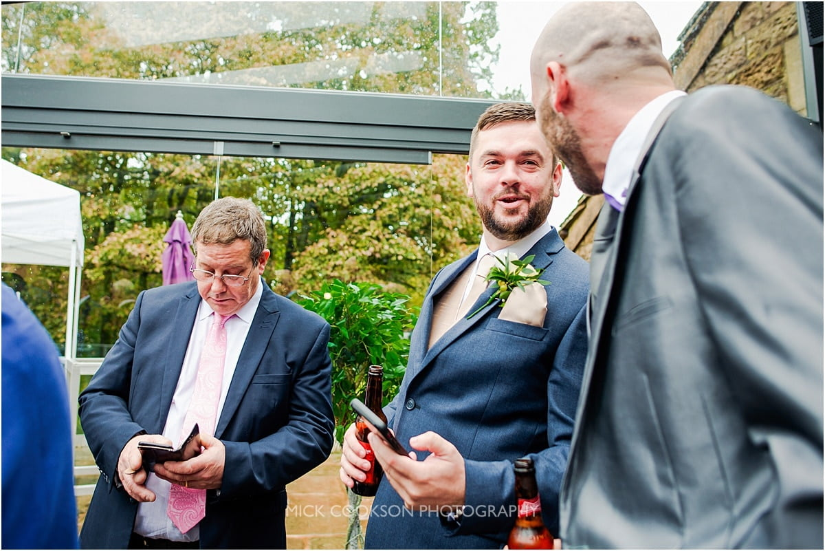 groom sharing a joke