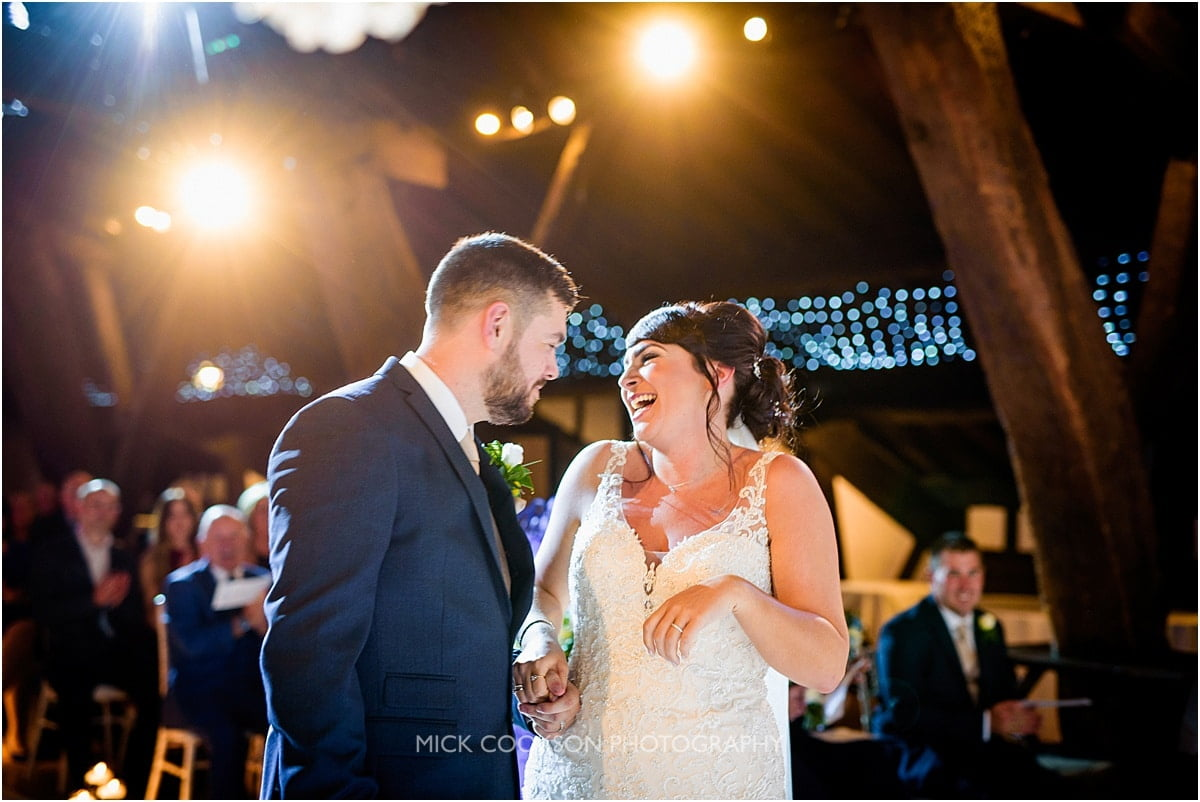 just married at rivington hall barn