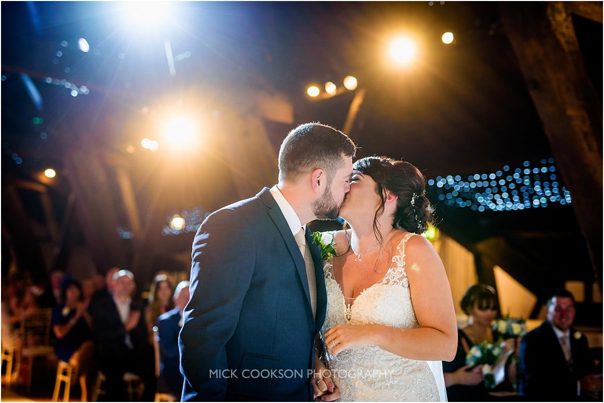 first kiss at rivington hall barn