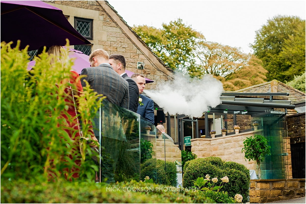 wedding guest vaping