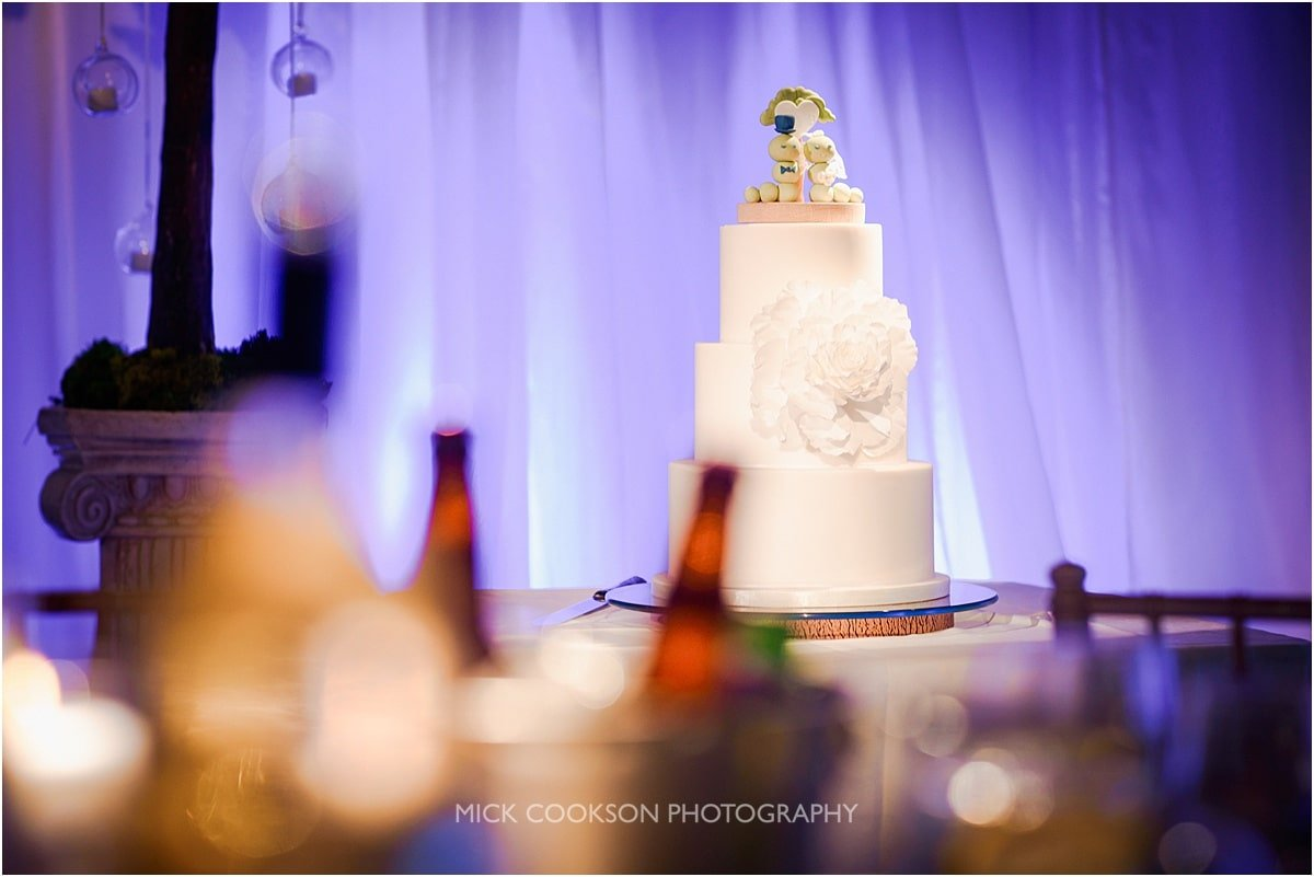 WEDDING CAKE AT RIVINGTON HALL BARN