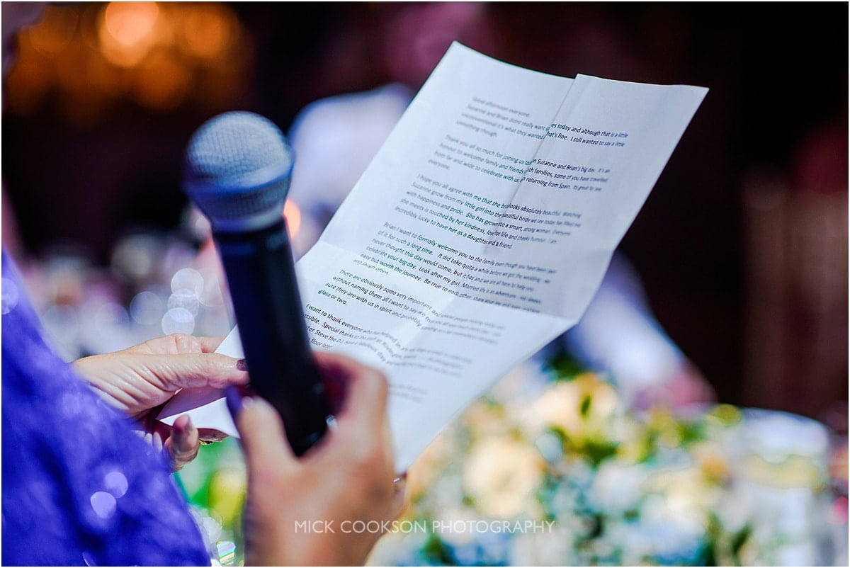 wedding speech at rivington hall barn