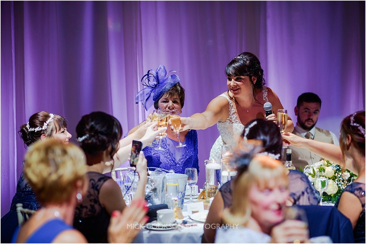 wedding toasts at rivington hall barn