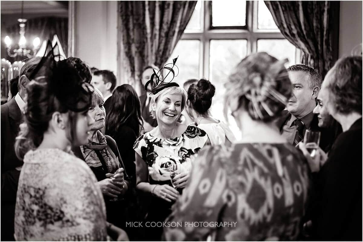 wedding guests at leighton hall