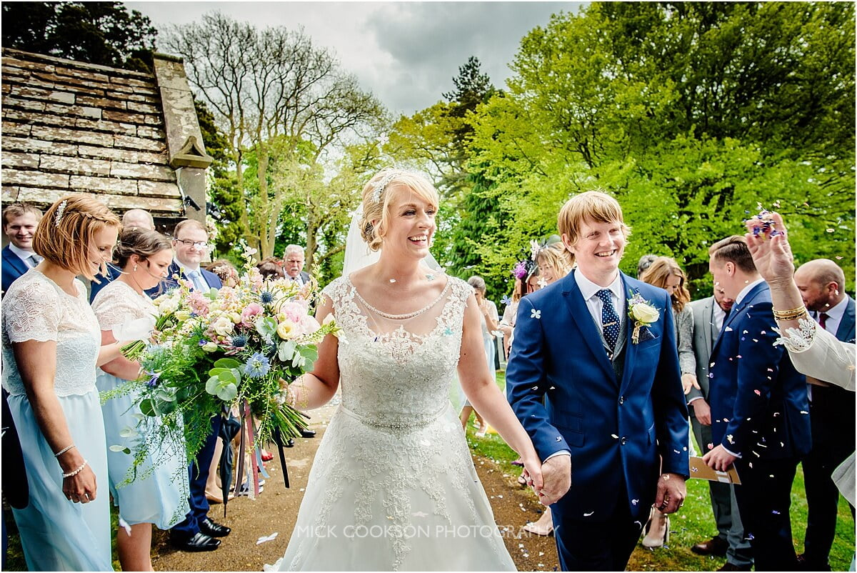 just married at leighton hall