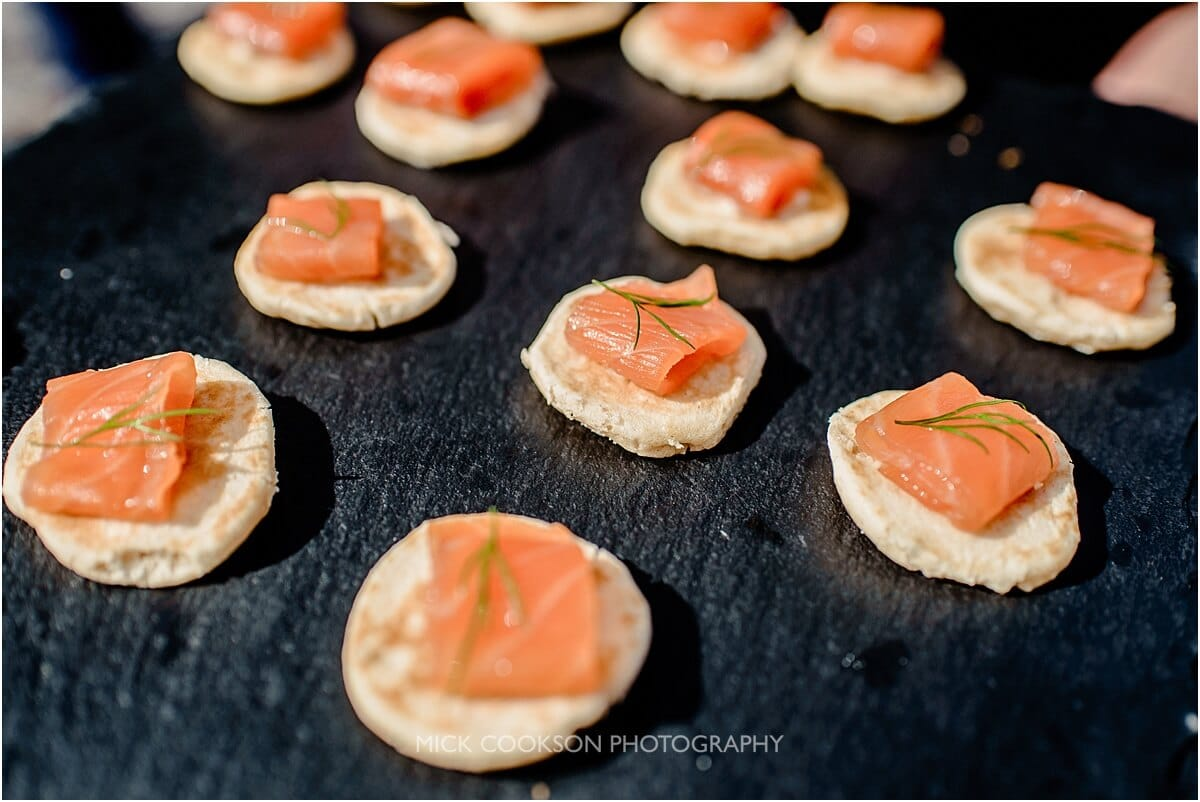canapes at leighton hall