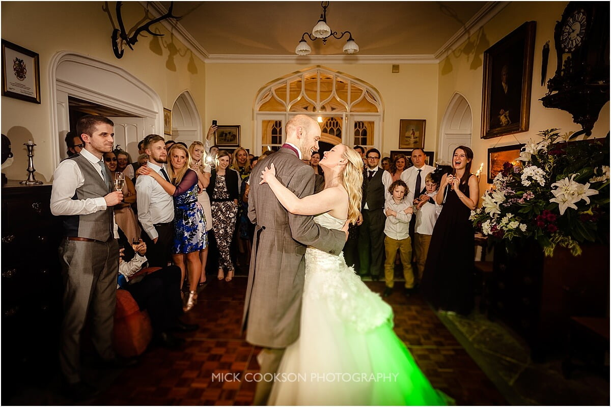 first dance in the hall at leighton hall