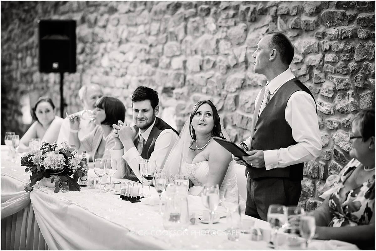 wedding speeches at at browsholme hall