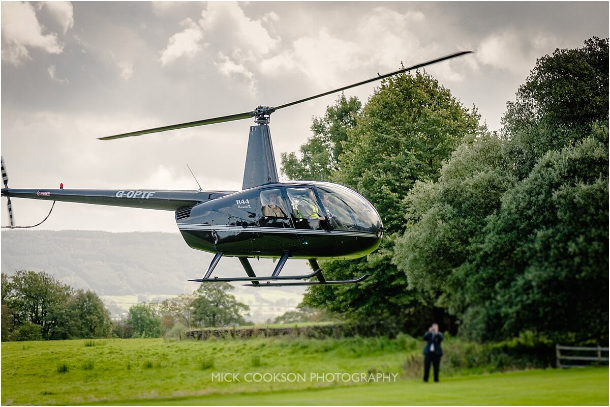 helicopter ride at at browsholme hall