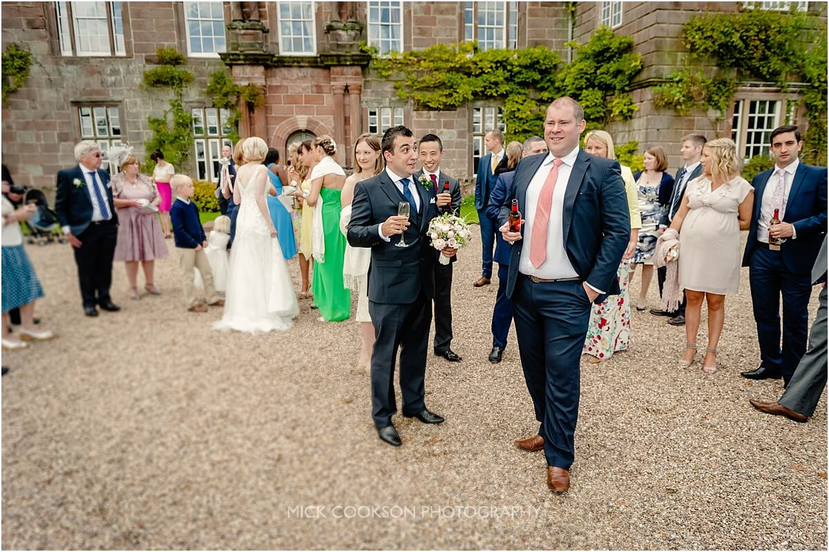 wedding guests at browsholme hall