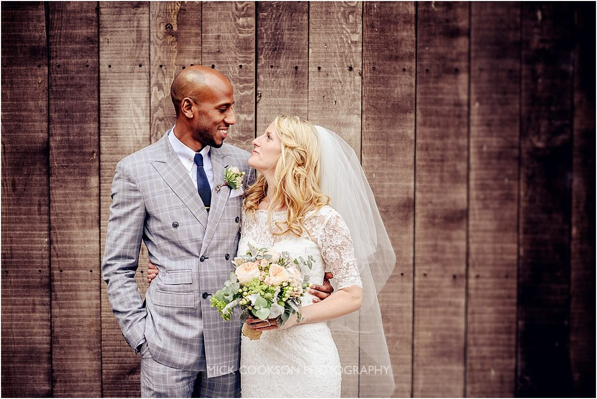 bride and groom at browsholme hall