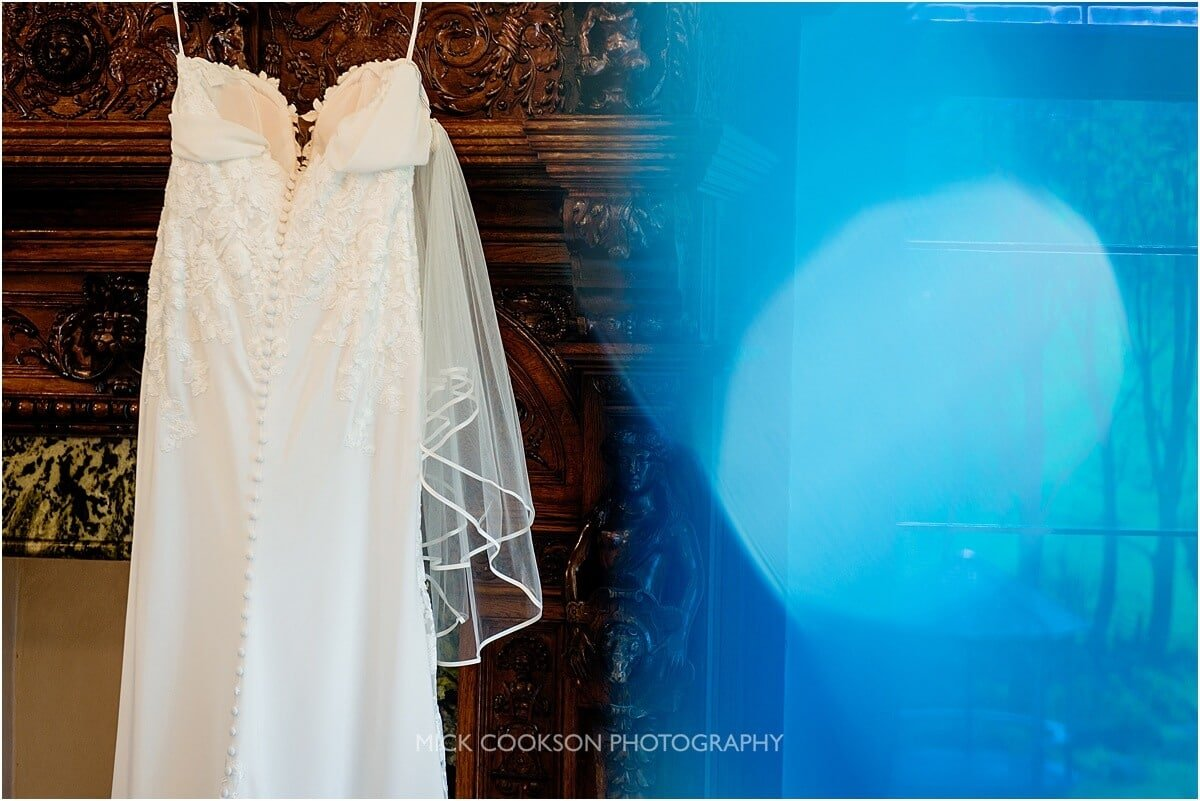 wedding dress at Tyn Dwr Hall