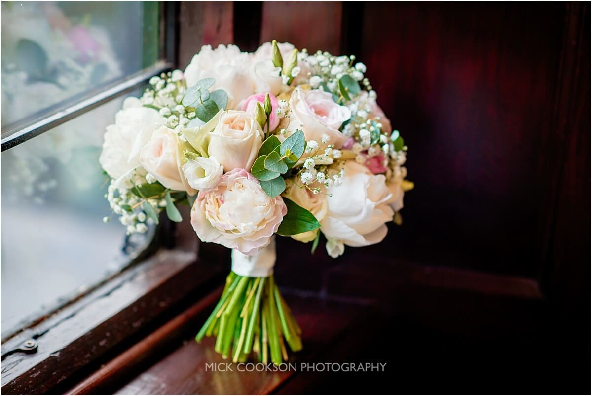 wedding bouquet at Tyn Dwr Hall