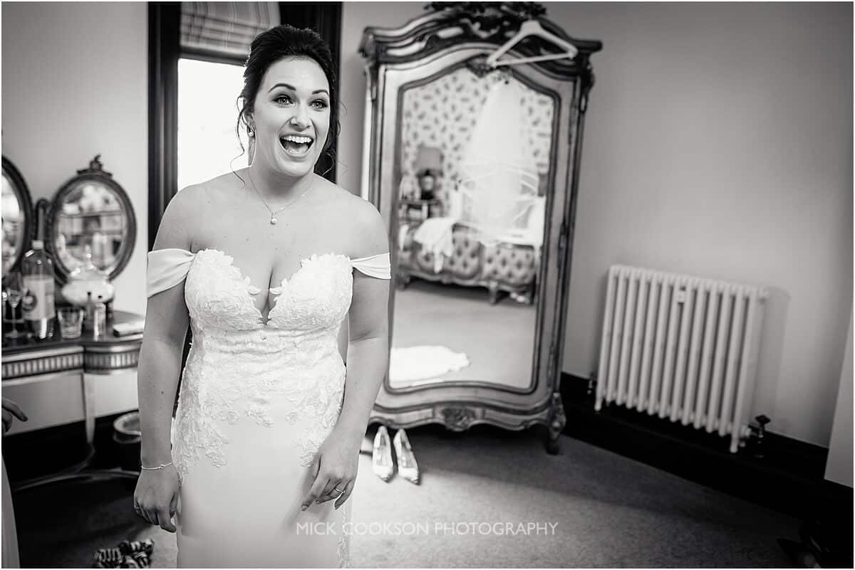 happy bride at Tyn Dwr Hall