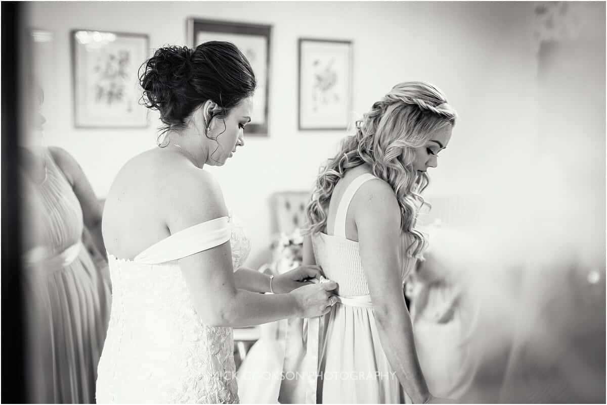 bride and bridesmaid at Tyn Dwr Hall