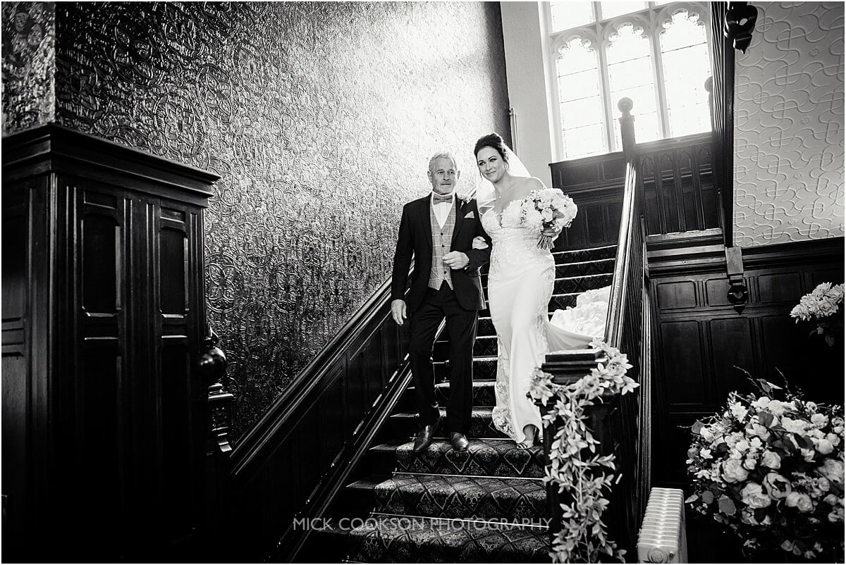 bride and her dad at a Tyn Dwr Hall wedding