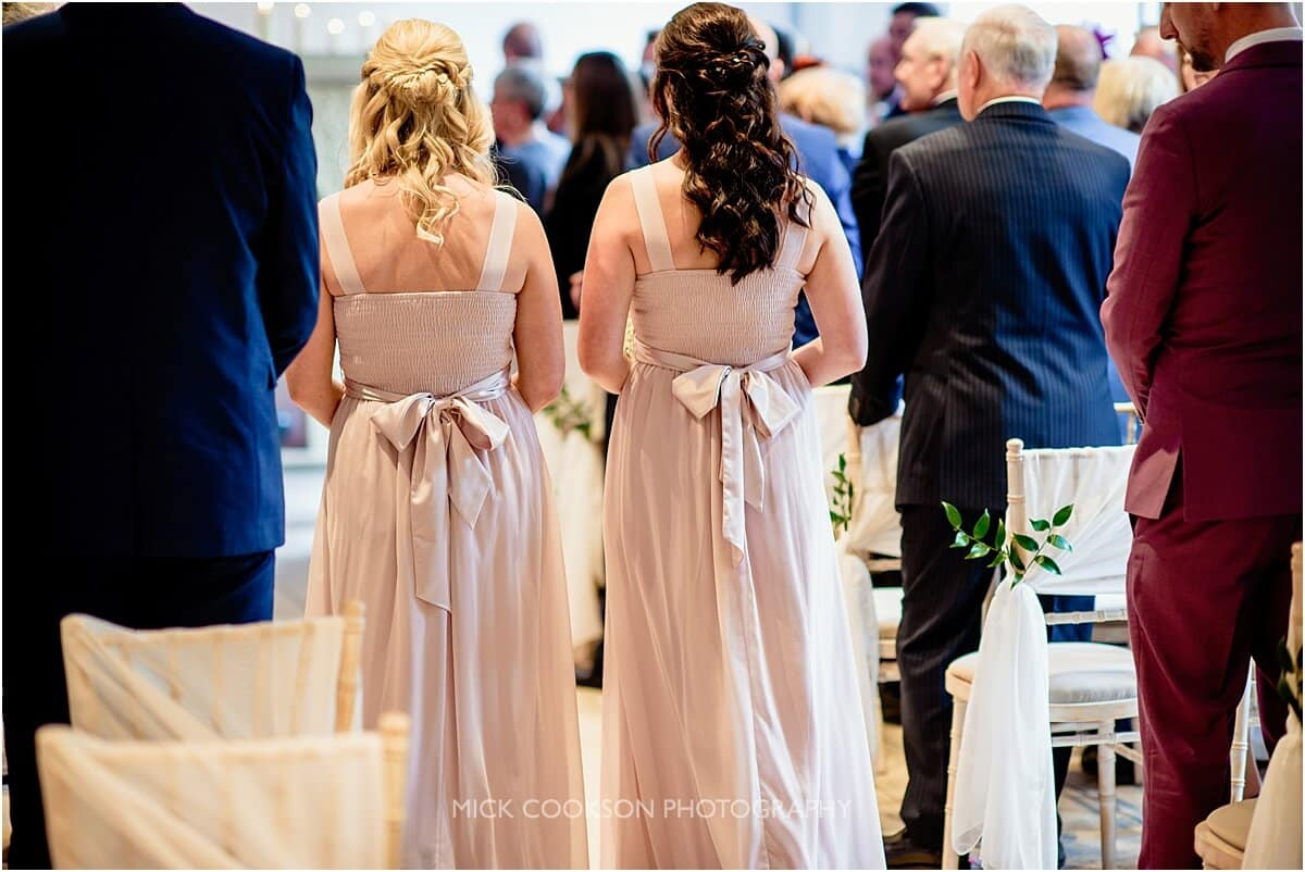 bridesmaids at a Tyn Dwr Hall wedding