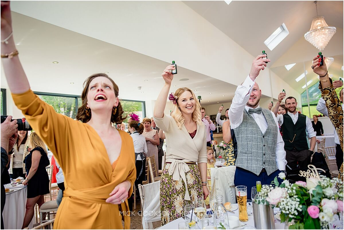 wedding toasts at tyn dwr hall