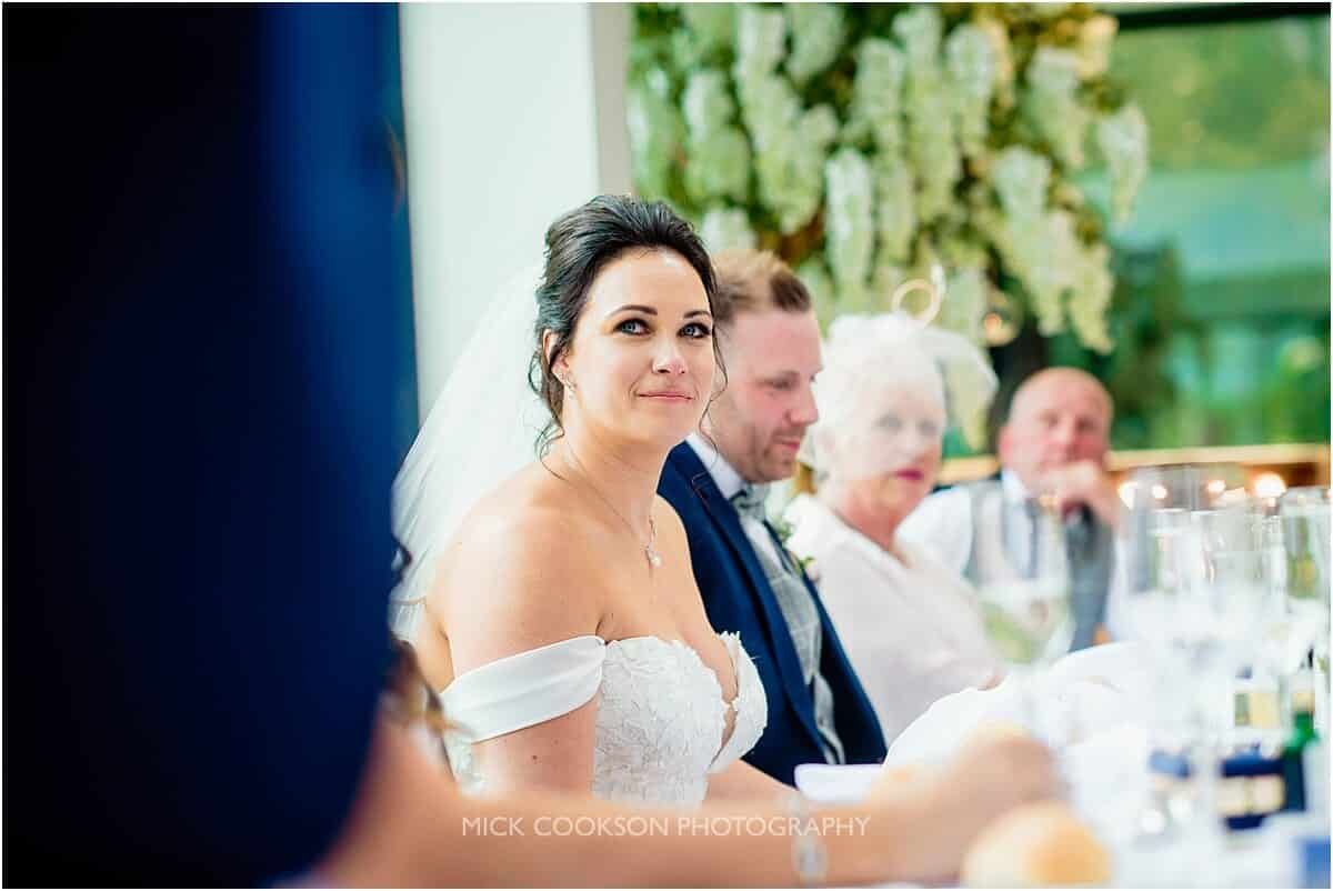stunning bride at tyn dwr hall