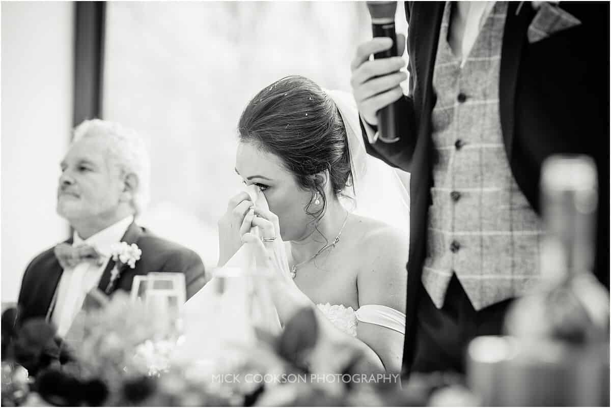 emotional bride at tyn dwr hall