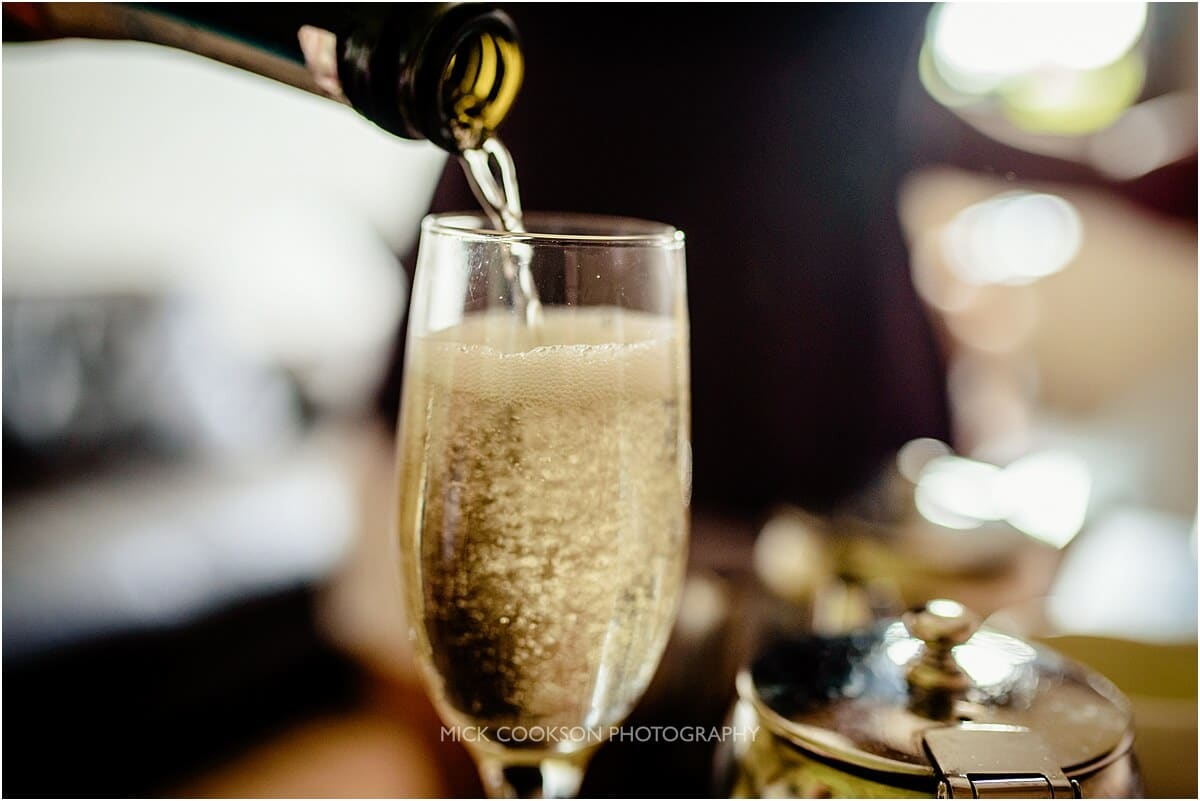 proseccco at a cranage hall wedding