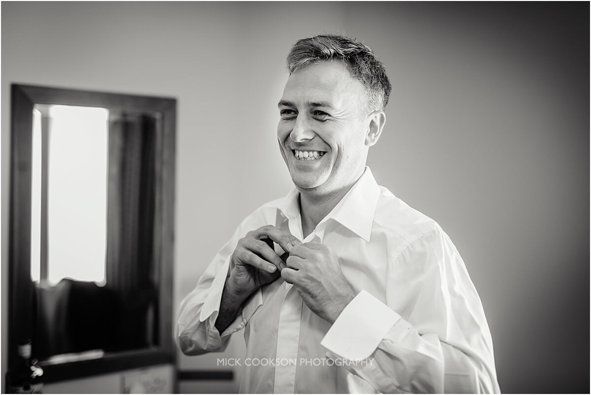 groom getting ready at cranage hall