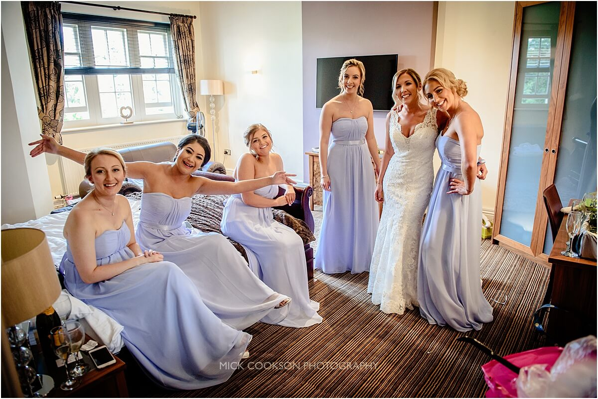 bridal party photo taken at cranage hall