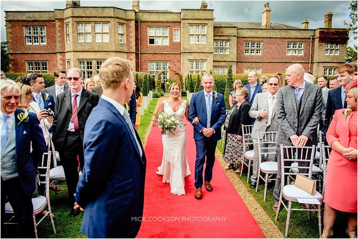 here comes the bride at cranage hall