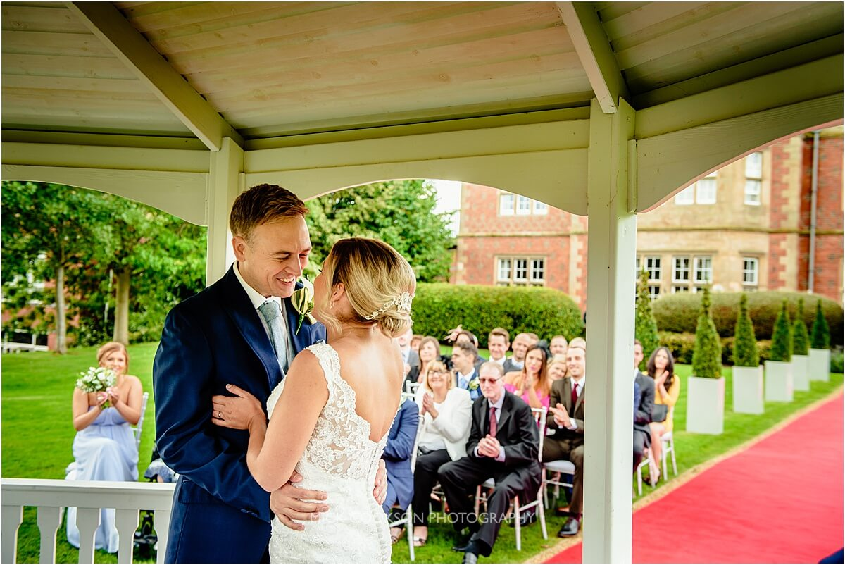 just married photo at cranage hall