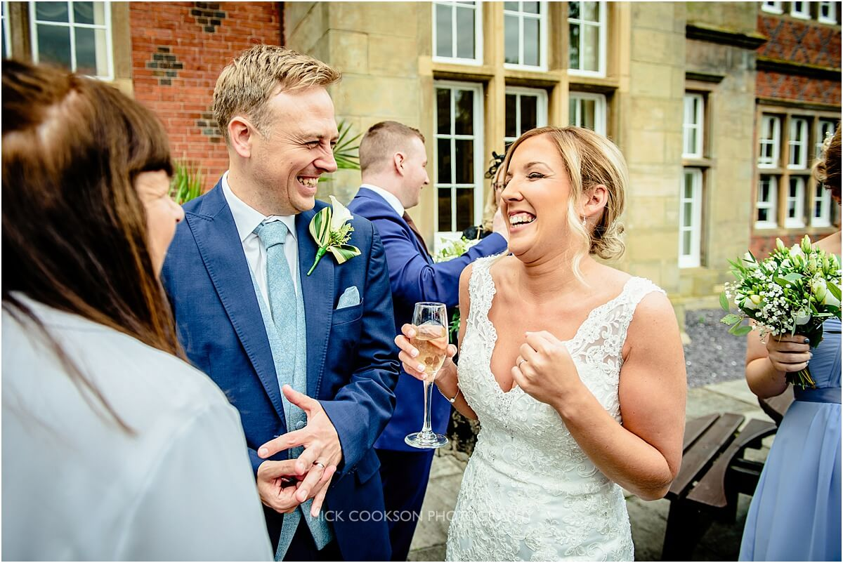 very excited bride at her wedding