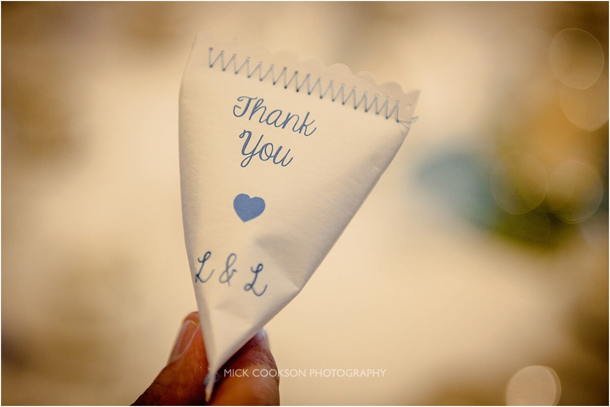 thank you wedding favours