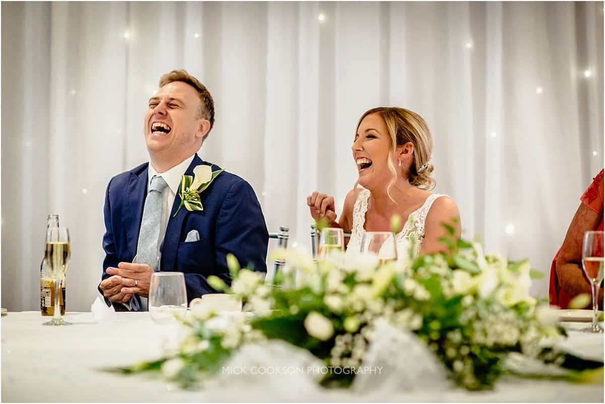 laughter at a cranage hall wedding
