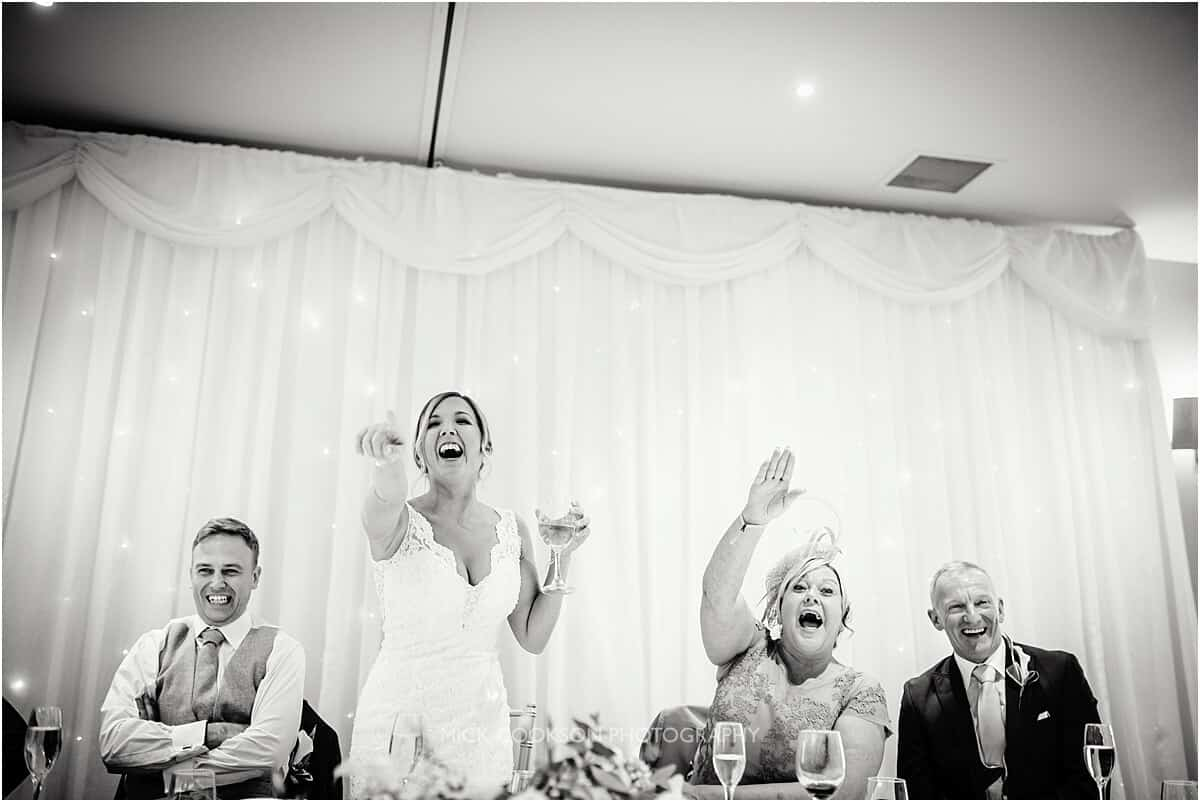 top table at a cranage hall wedding