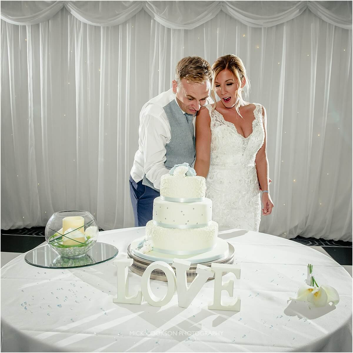 cutting the cake at cranage hall
