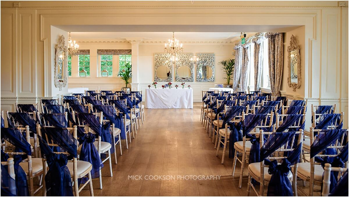 ceremony room at eaves hall