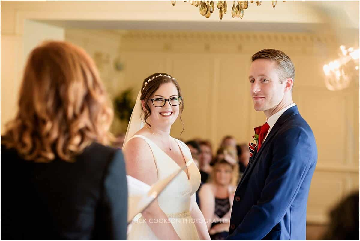 wedding vows at eaves hall