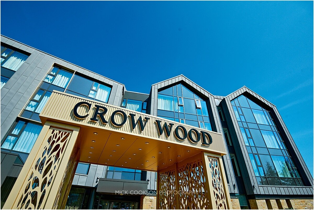crow wood hotel front sign