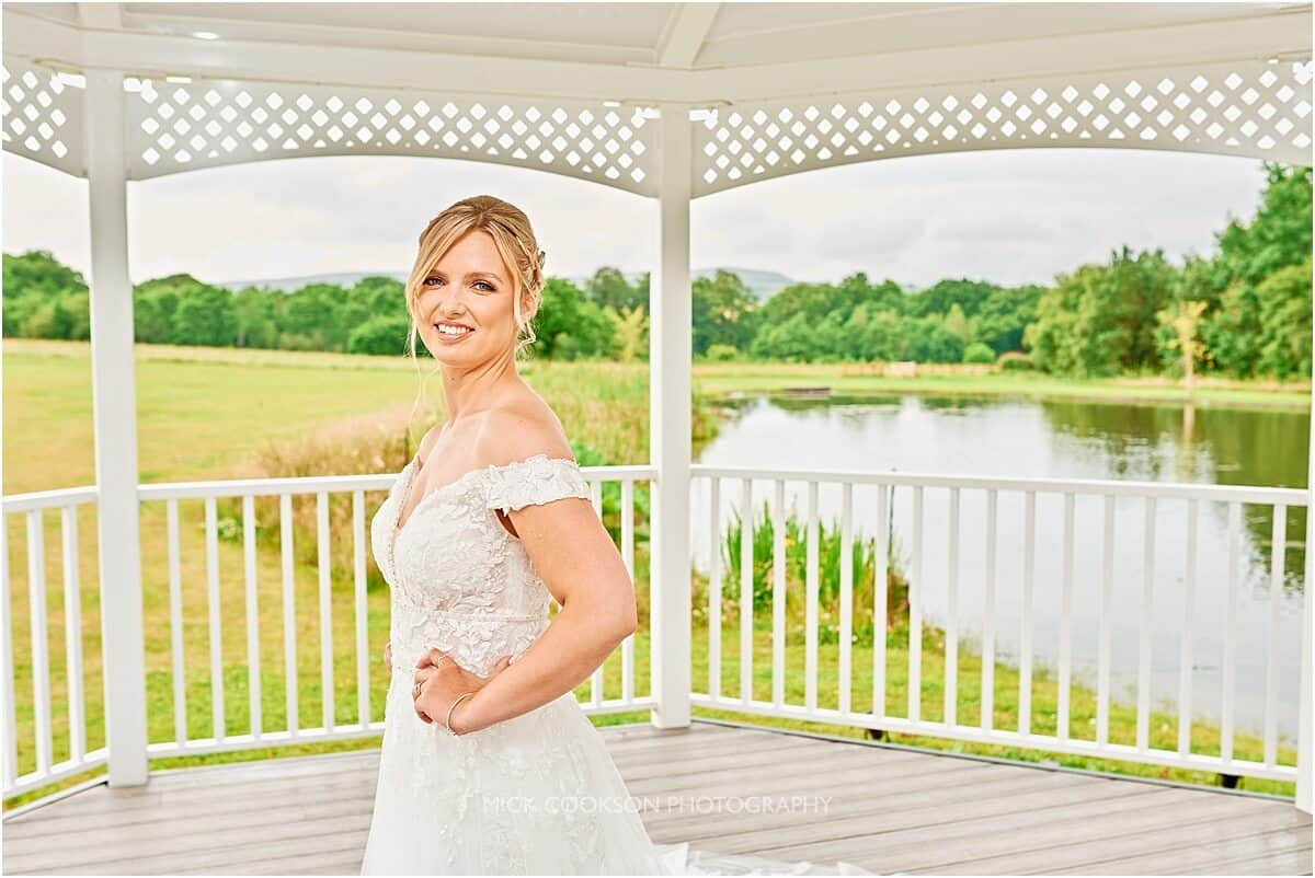 bride in the pagoda at crow wood hotel